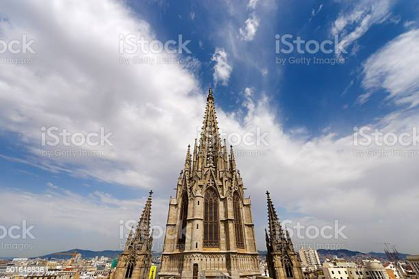 Barcelona Cathedral Spain Stock Photo - Download Image Now