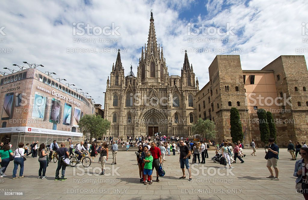 Barcelona Cathedral, Spain stock photo