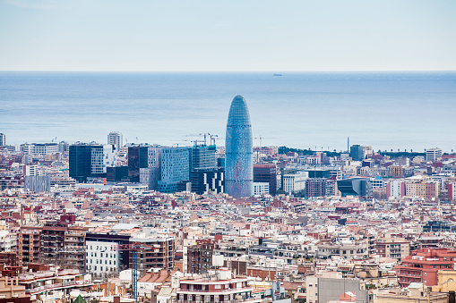 Barcelona city seen from Park Guell
