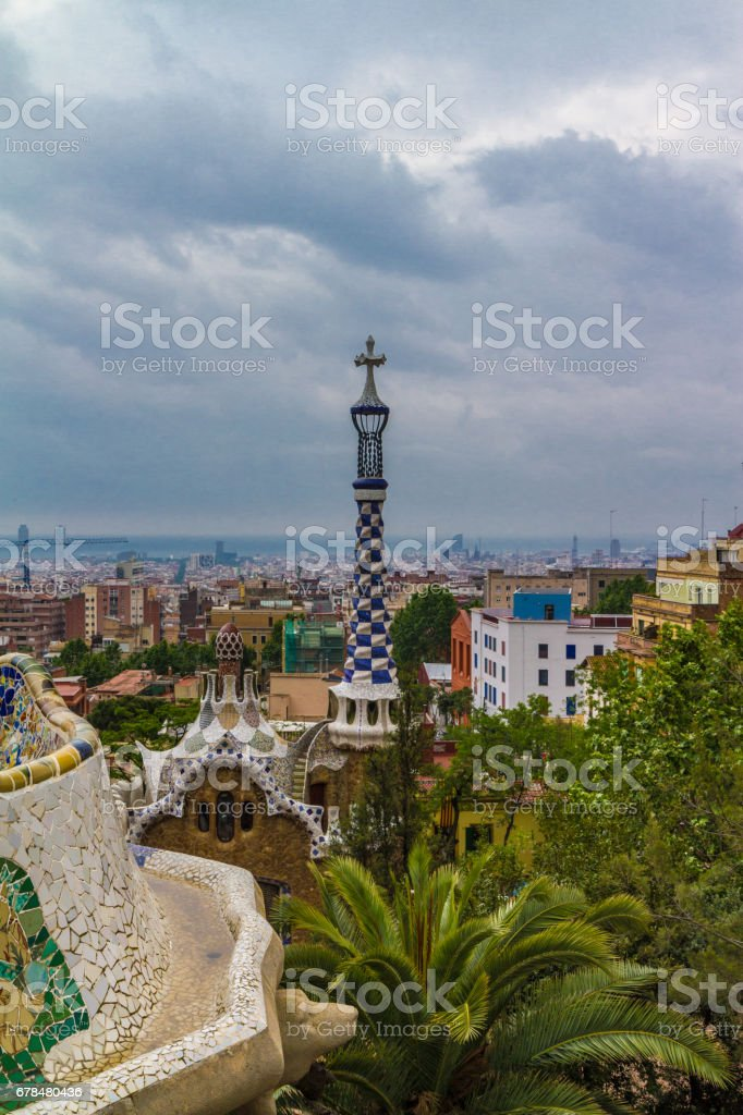 Barcelona city view royalty-free stock photo