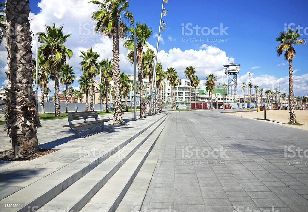 Barcelona Coastline stock photo