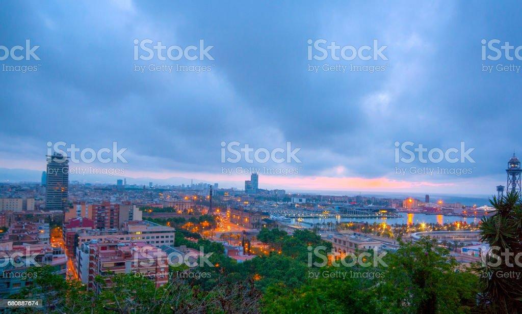 Barcelona,  Colon statue royalty-free stock photo