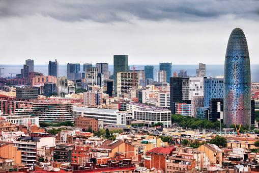 Barcelona Centro Ciudad Foto de stock y más banco de imágenes de Aire libre