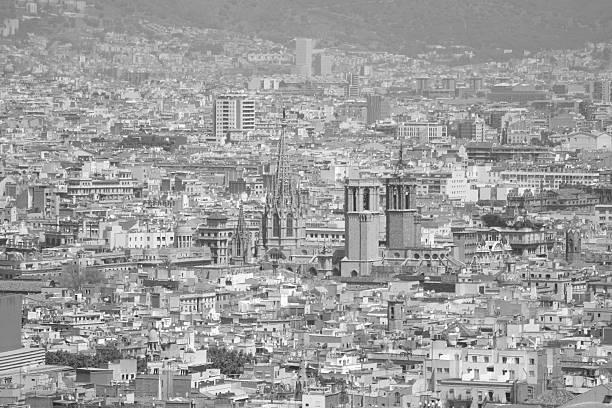 Barcelona Downtown, Spain stock photo