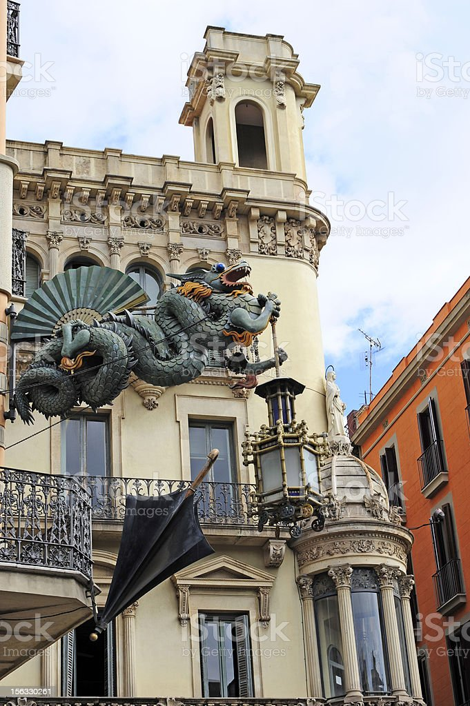Barcelona dragon royalty-free stock photo