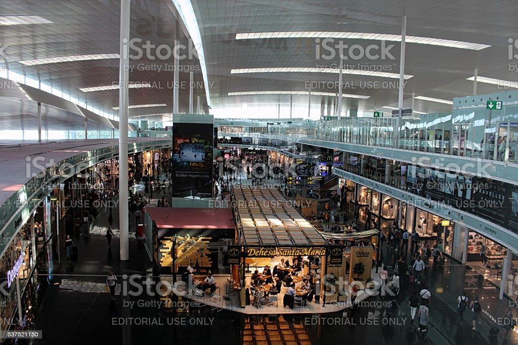 T1 Barcelona El Prat Airside stock photo