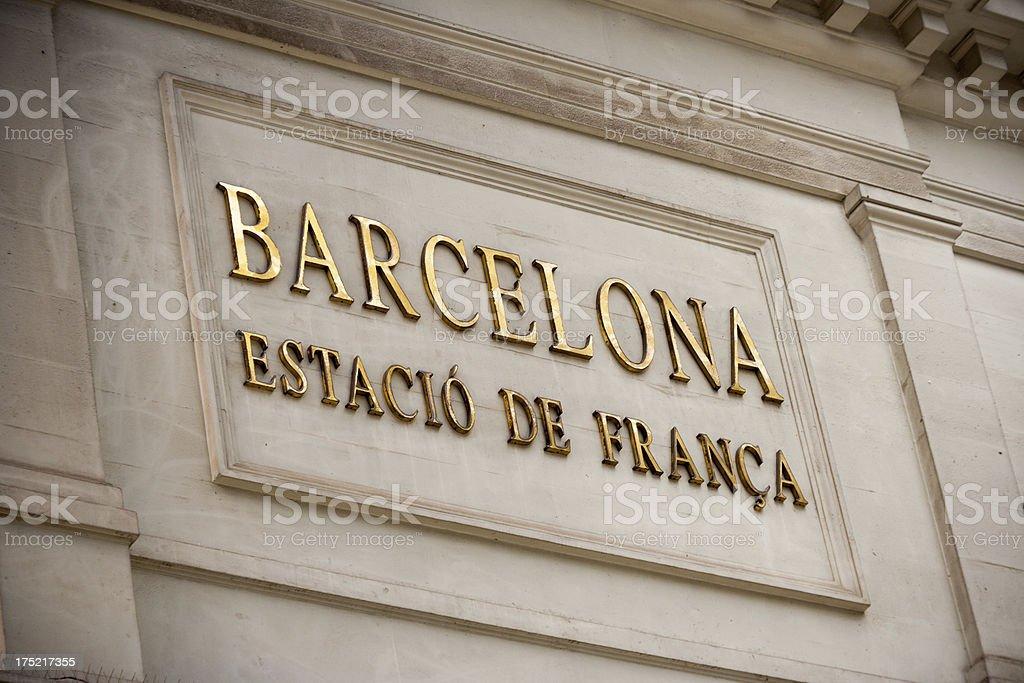 Barcelona Estació de França royalty-free stock photo
