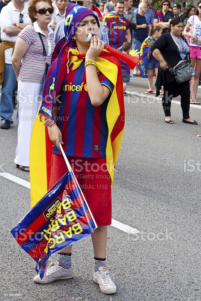 Барселона Фанаты Стоковые фото Стоковая фотография