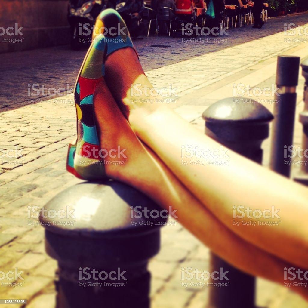 Barcelona feet stock photo