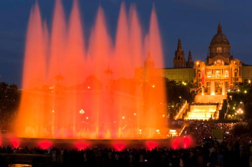 Barcelona Font Magica Magic Fountain MNAC Plaza Espana Catalonia Spain