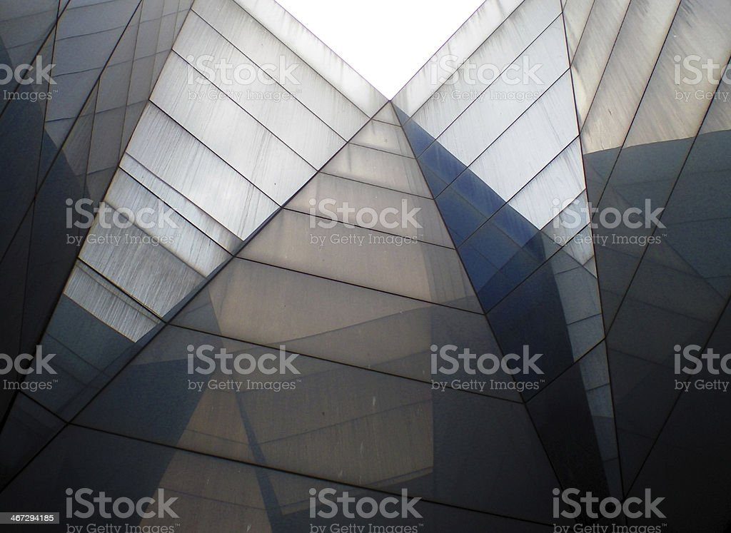 Barcelona Forum abstract pyramidal background stock photo