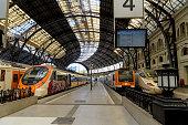 Barcelona, Catalonia, Spain - October 8, 2019: A wide-angle interior view of Estacio de Franca - \