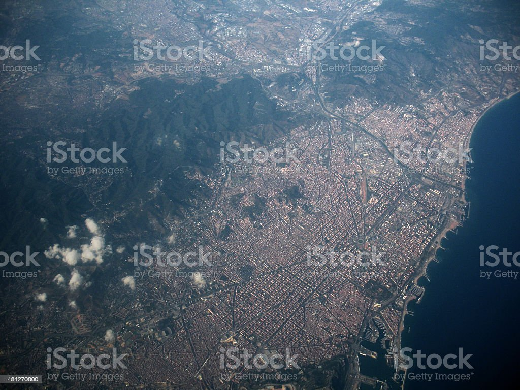 Barcelona from the sky stock photo