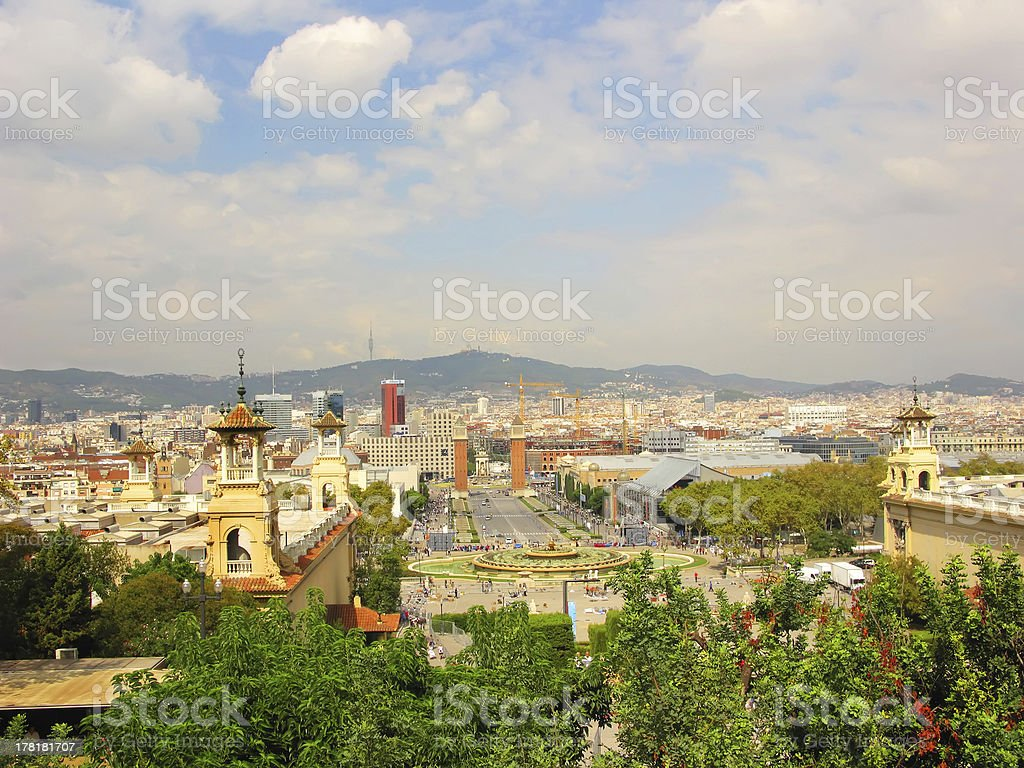 Barcelona generic view royalty-free stock photo