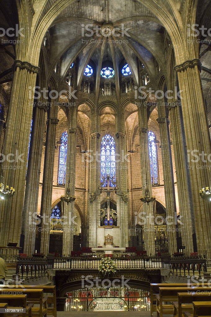 Barcelona gothic cathedral Spain royalty-free stock photo