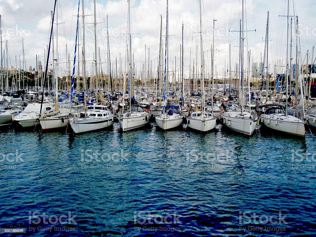 Barcelona Harbor stock photo
