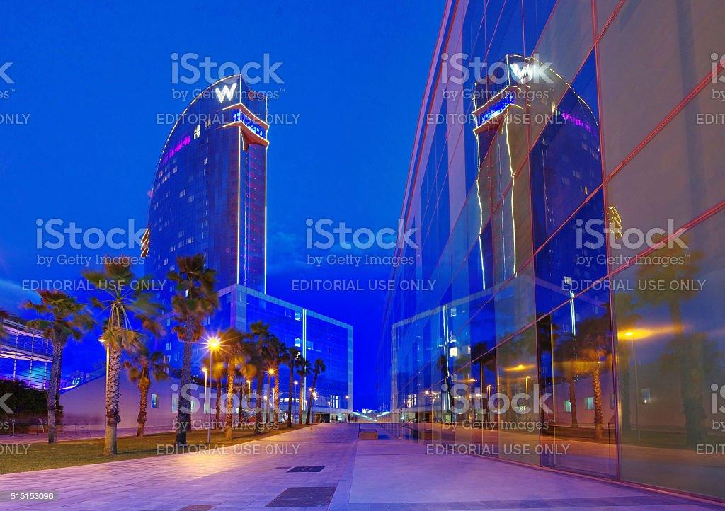 W Barcelona Hotel in Barcelona stock photo