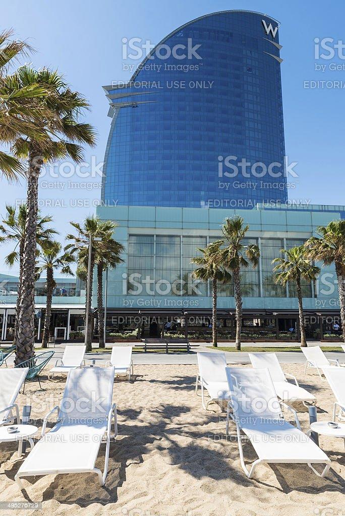 W Barcelona hotel stock photo