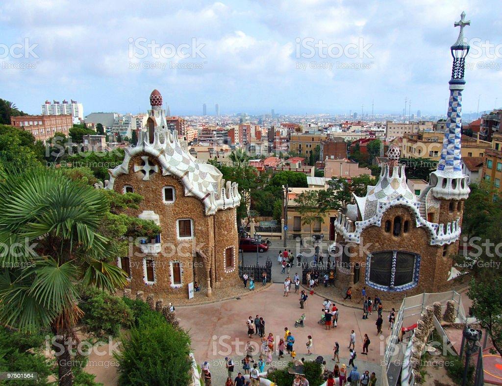 Barcelona landmark - Park Guell royalty-free stock photo