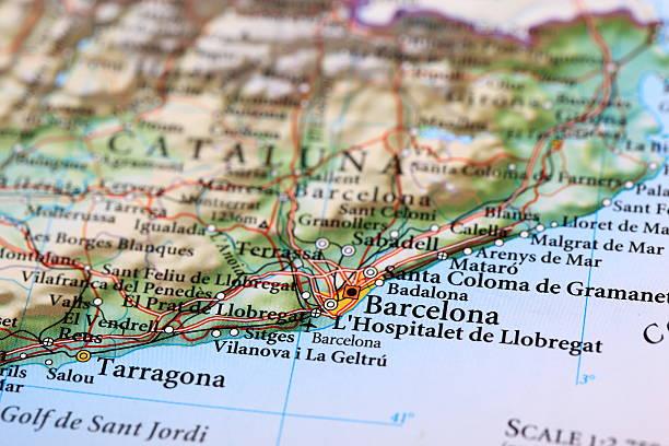 Barcelona, Spanien-Karte Europa – Foto