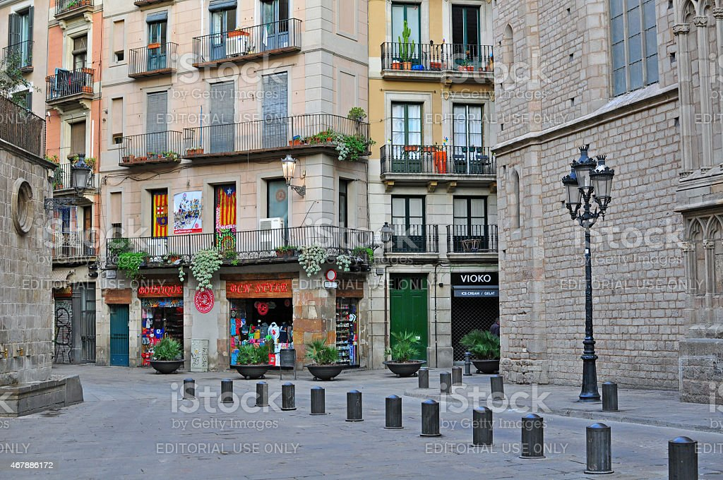 Barcelona old town, the Born quarter stock photo