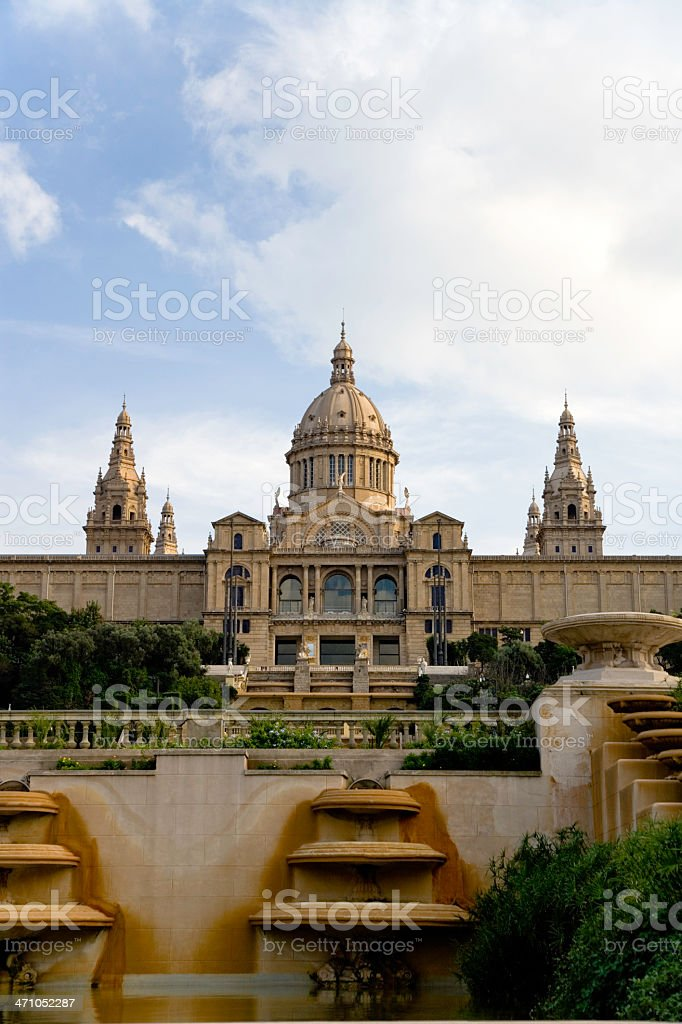 Barcelona Palau Nacional royalty-free stock photo