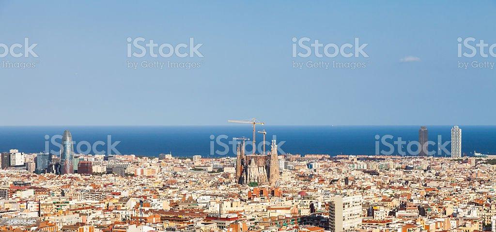 Barcelona panorama royalty-free stock photo