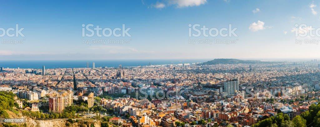 Barcelona Panoramic Image stock photo