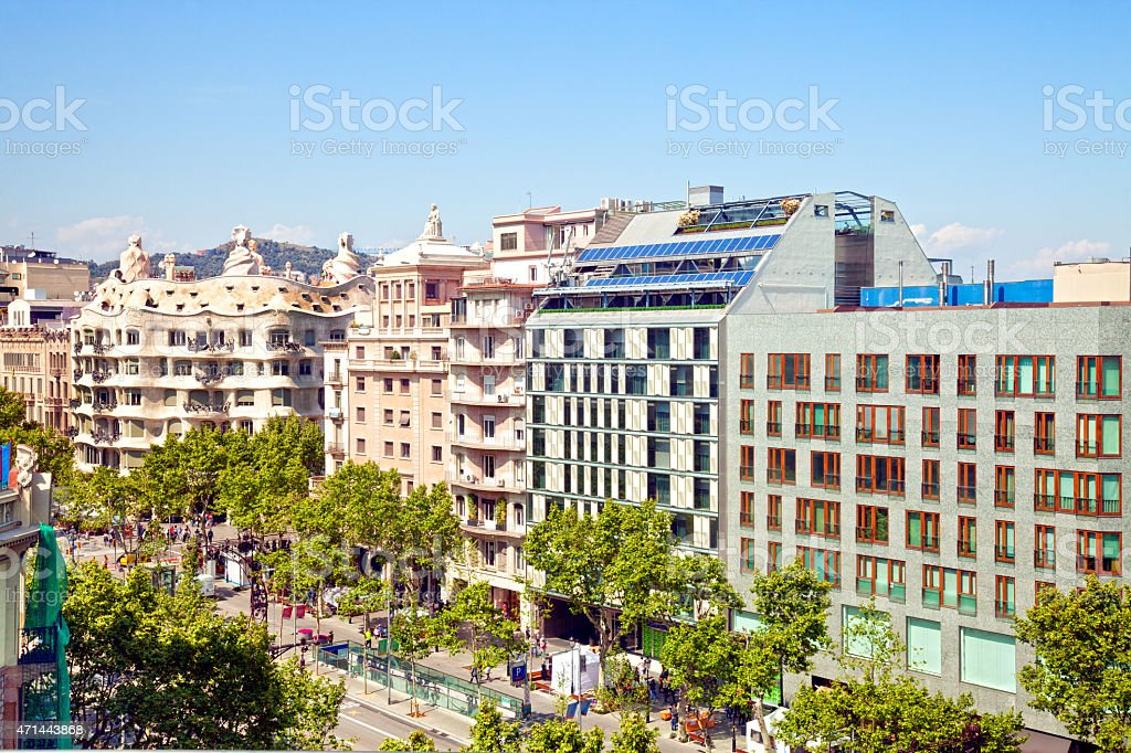 Barcelona Paseo de Gracia stock photo