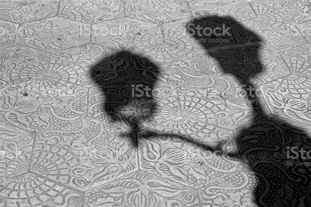 Barcelona pavement stock photo