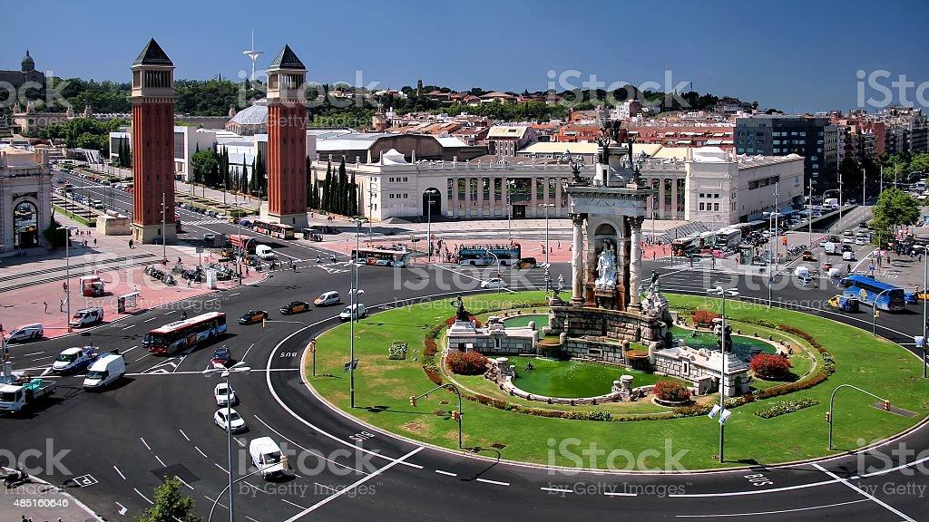 Barcelona: Plaça d'Espanya stock photo