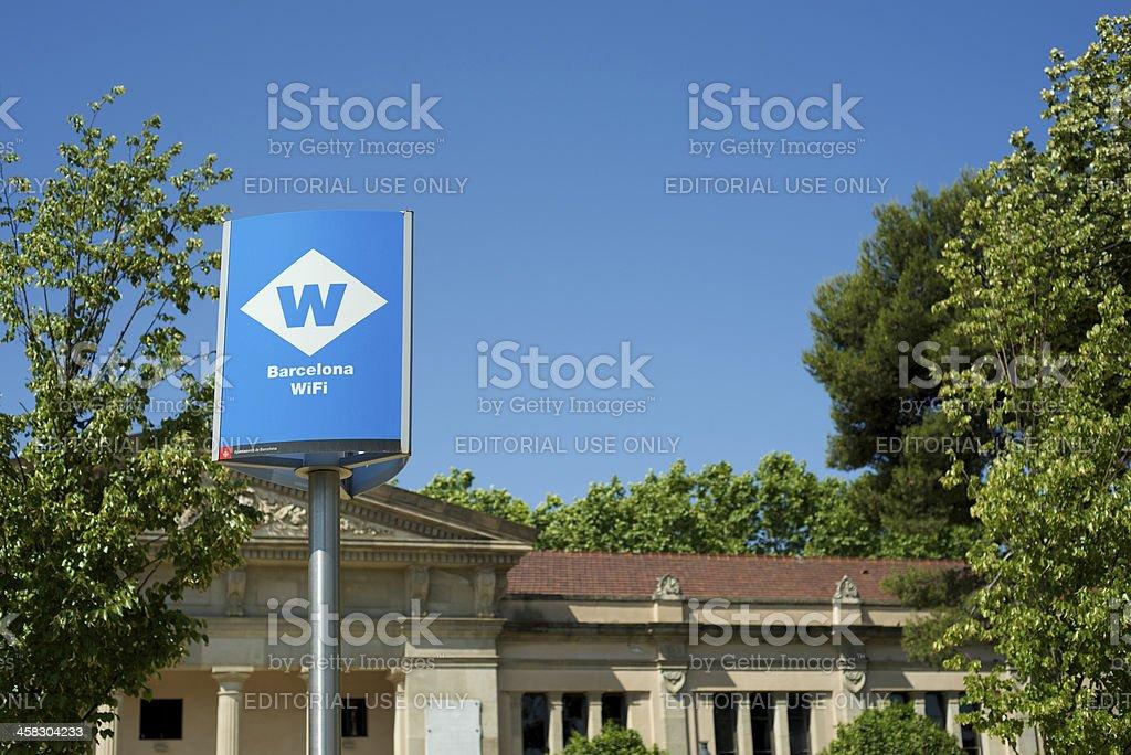 Barcelona public wi-fi royalty-free stock photo