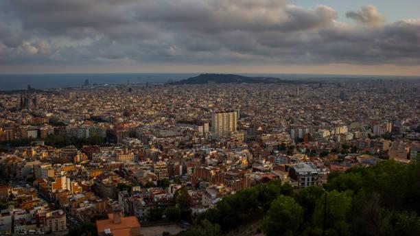 Panoramablick auf die skyline von Barcelona – Foto