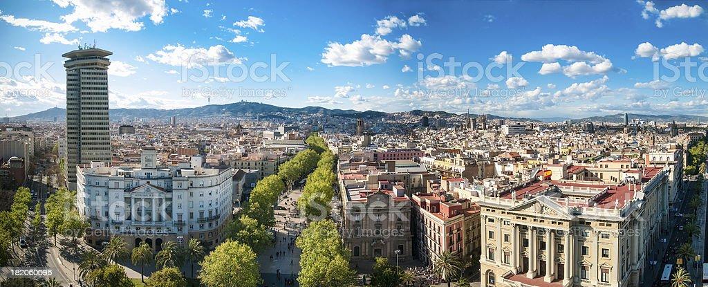 Barcelona Skyline stock photo