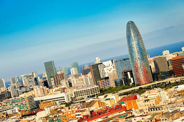 Barcelona skyline, Spain stock photo