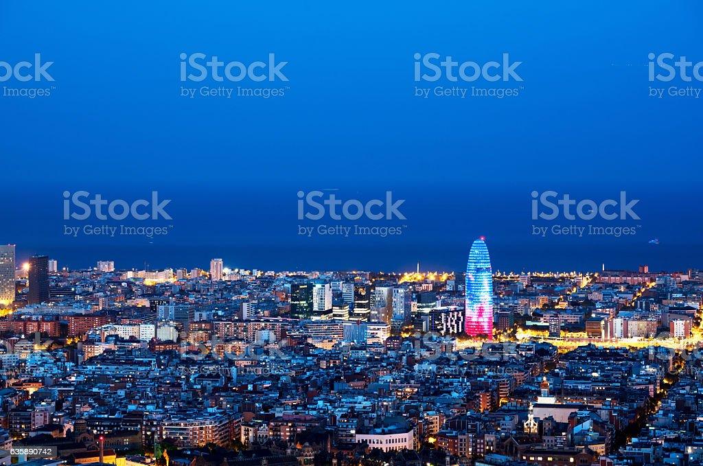 Edificios de la ciudad de Barcelona, España - foto de stock