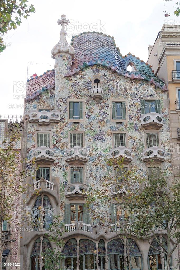 Barcelona, Spain - 25 September 2016: Casa Batllo facade. stock photo