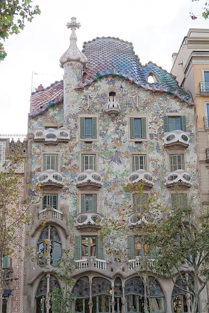 Barcelona, Spain - 25 September 2016: Casa Batllo facade. stock photo