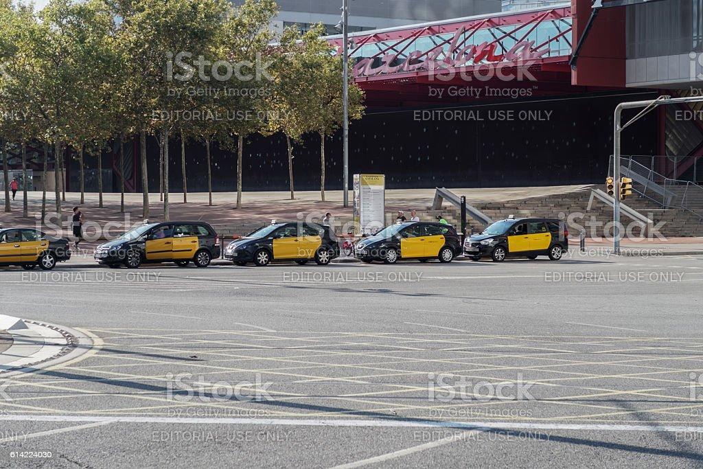 Barcelona Spain 25 September 2016 Taxi Raw In Barcelona