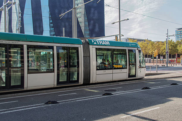 Barcelona, Spain - 25 September 2016: Tram Transport in Barcelona. stock photo