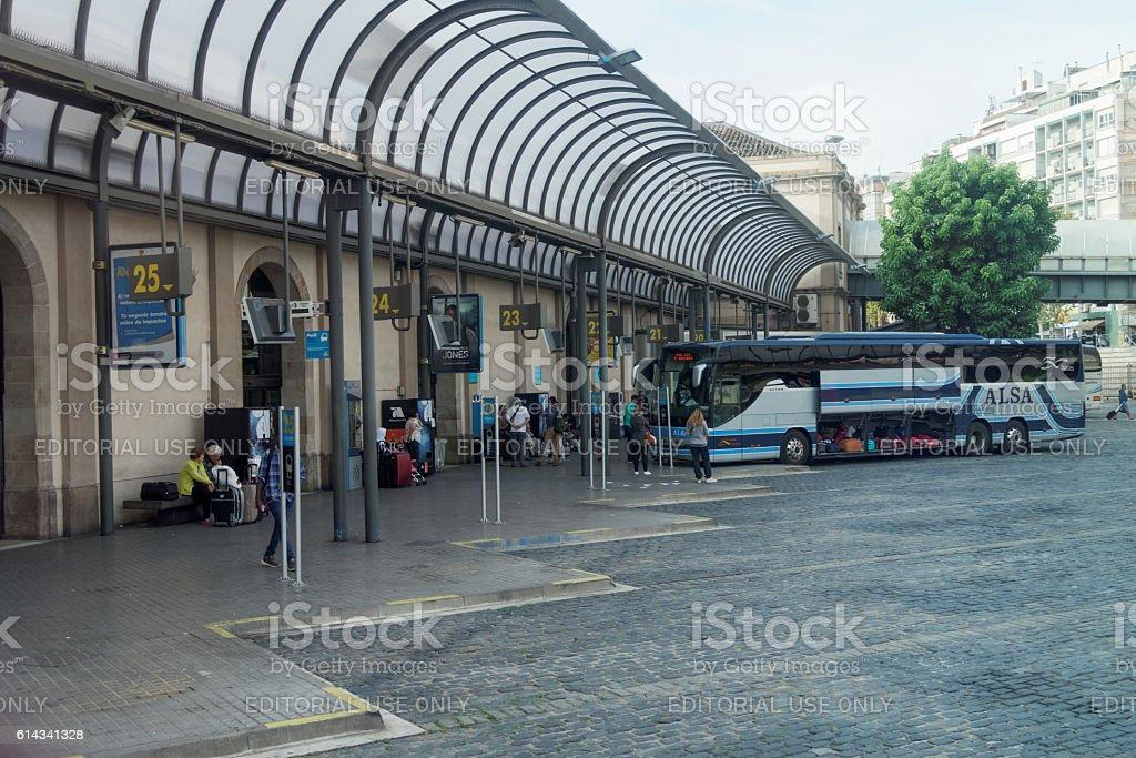 Barcelona, Spain - 26 September 2016: Barcelona Nord Bus Station. stock photo
