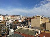 istock Barcelona, Spain, December 23, 2017: View from the terrace of La Pedrera, Casa Mila 1287745771