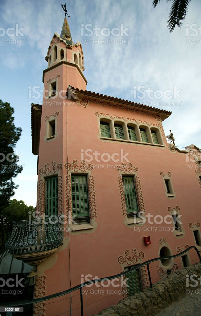 Barcelona Spain Gaudi Park Guell royalty-free stock photo