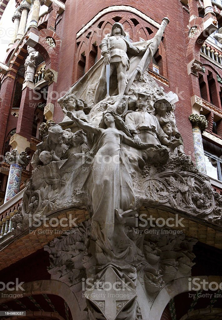 Barcelona Spain Palau de la Música Catalana stock photo