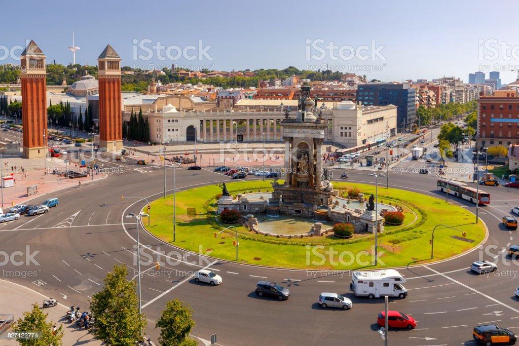 Barcelona. Square of Spain. stock photo