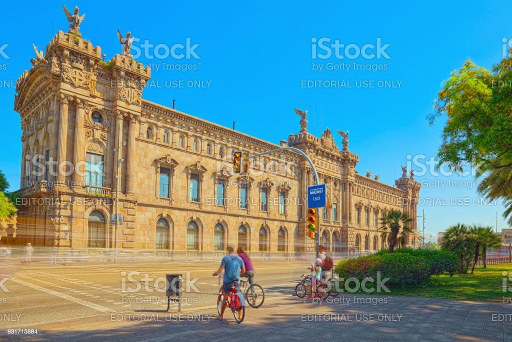 Agência Estatal de Barcelona para a administração tributária, agência de imposto (Agencia Tributaria). Espanha. - foto de acervo
