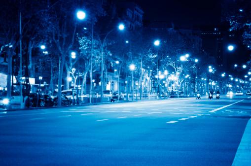Barcelona street light in Passeig de Gracia