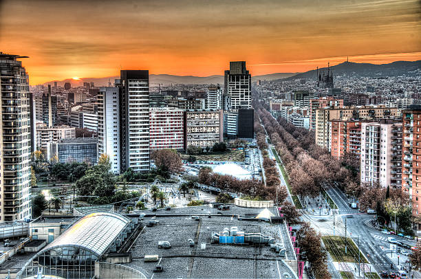 barcelona sunset - dally stock pictures, royalty-free photos & images