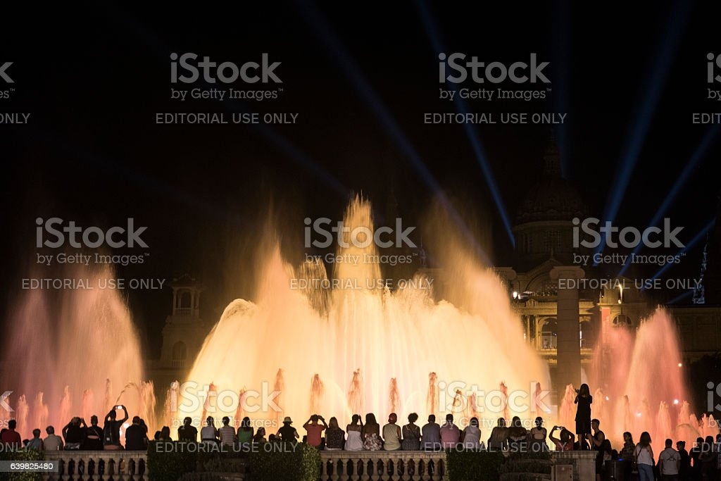 Barcelona (Spain): the Magic Fountain stock photo