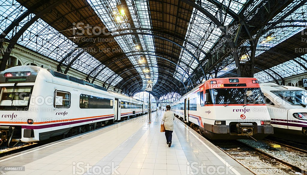Barcelona Train Station - Estacio de Franca royalty-free stock photo